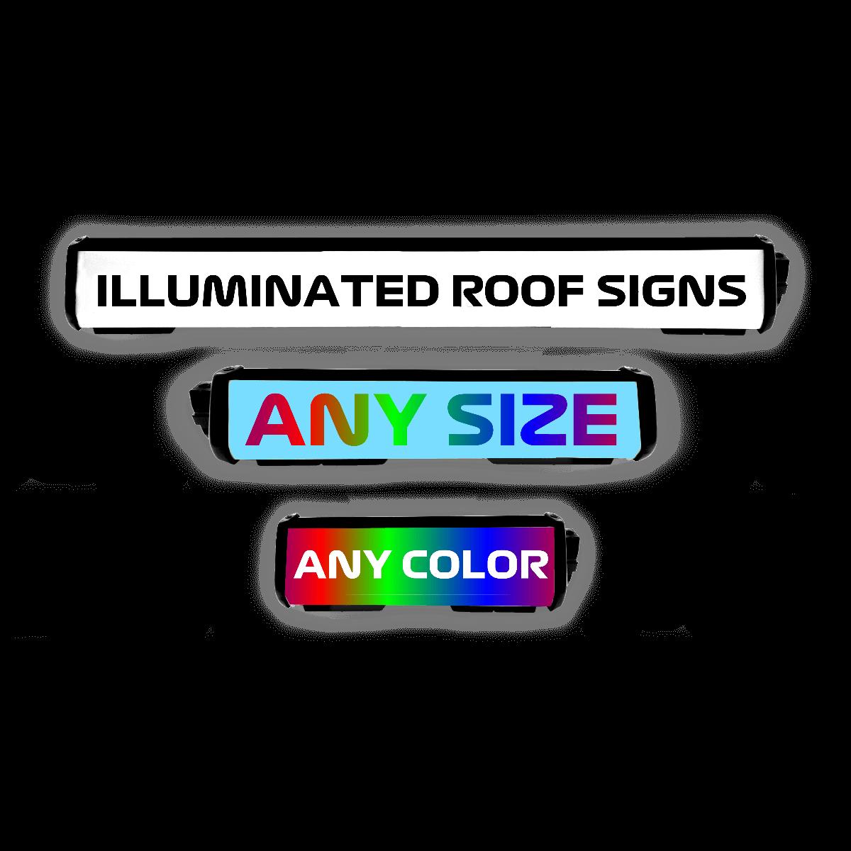 custom illuminated roof signs