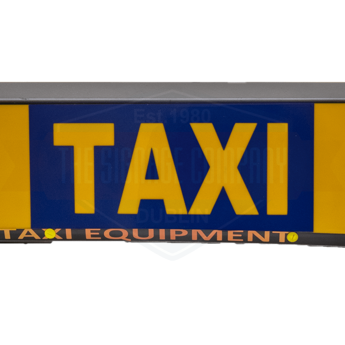 english taxi roofsign middle