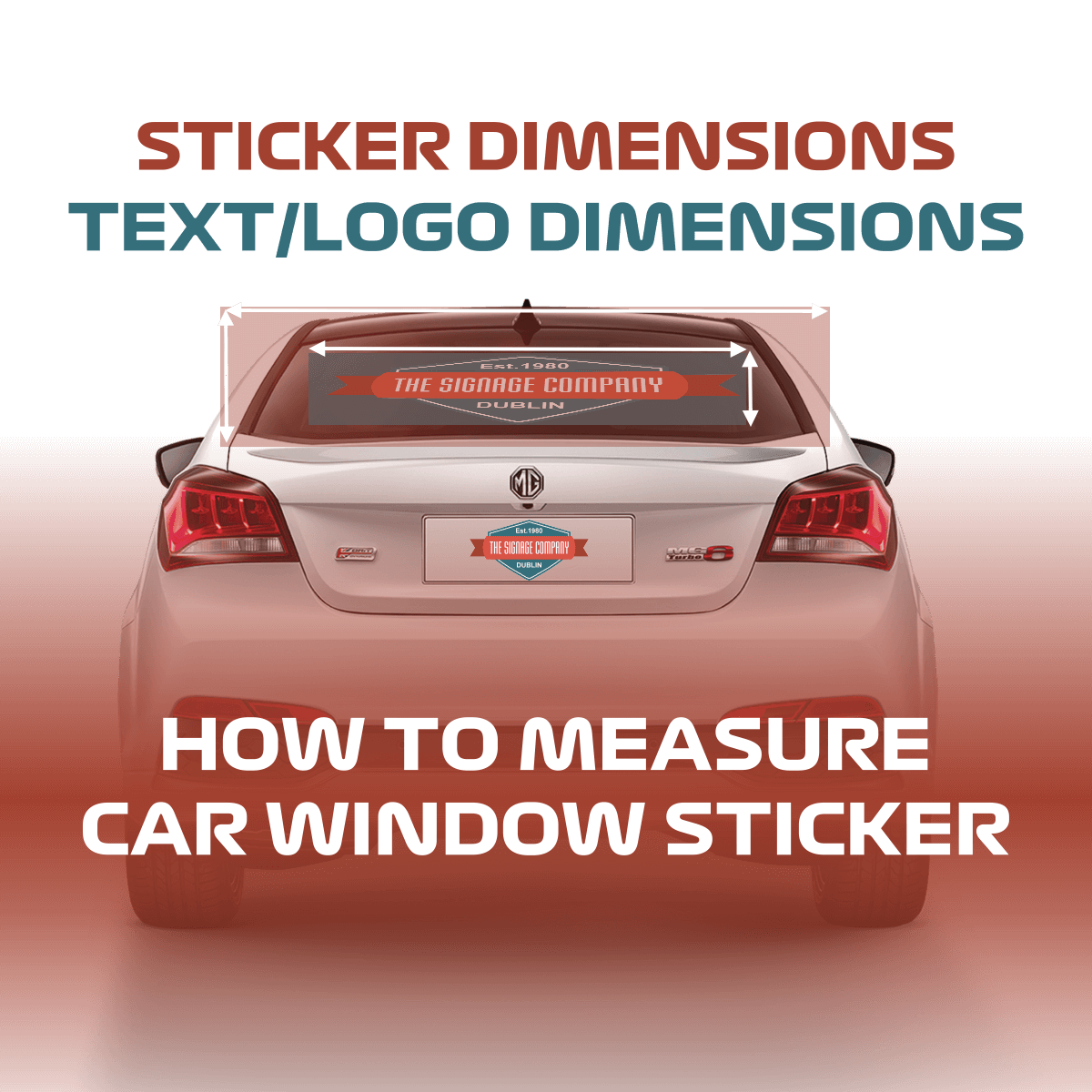 how to measure car window sticker size correctly
