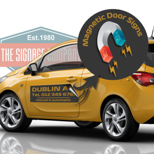 magnetic car door stickers dublin made to order