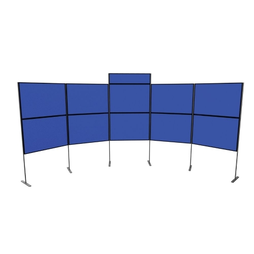 10 Panel and Pole Display Board Kit  900mm x 600mm Baseline