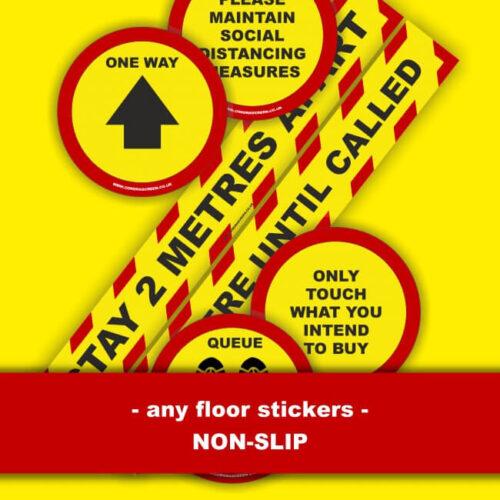 2 Metre Distance Arrow Floor Sticker Dublin COVD-19 Signage