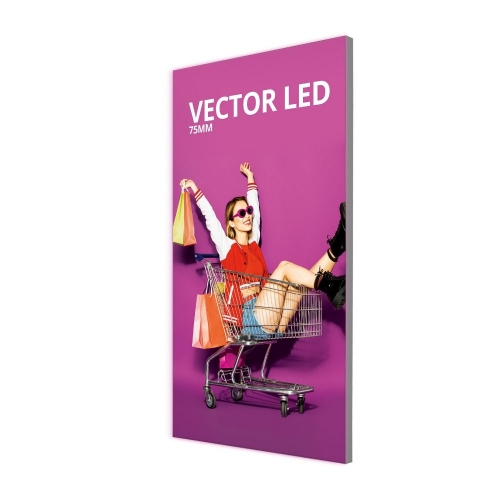 75mm Vector LED Wall Mounted Lightbox  75mm Wall Mounted Lightbox 2000 x 1000