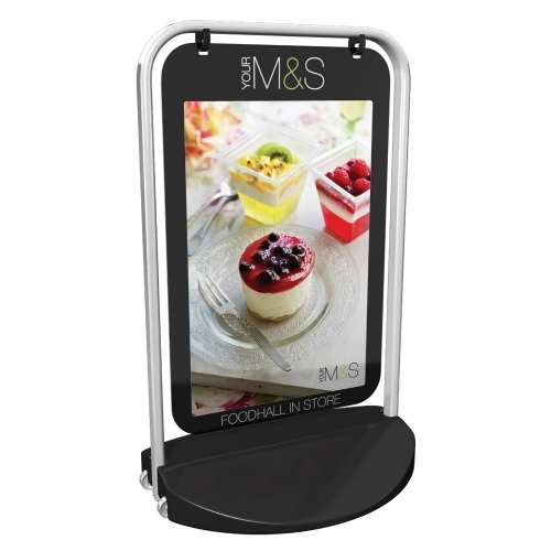 Black Swing Poster Stand A2 Poster (594x420mm)  1+ units