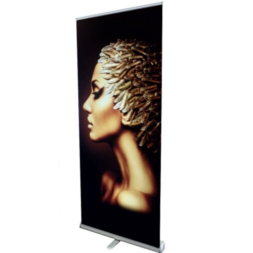 Brushed Silver Roll-Up Stand 1+ units