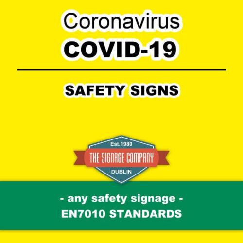COVID-19 Symptoms Sign Dublin COVD-19 Signage