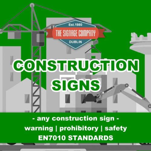 Caution Site Entrance 50m Site Traffic Notice Sign Ireland