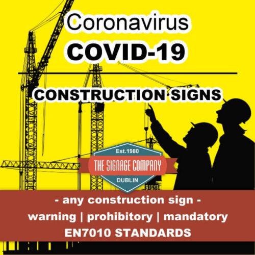 Coronavirus Temperature Check Entering Site Sign Dublin COVD-19 Signage