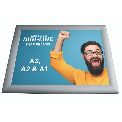 DIGI-LINE A2 Silver Snap Frame  1-10 units