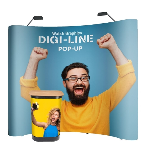 DIGI-LINE Classic Pop-Up Stand Curved 3x4 Bundle with LED lights  1+ units