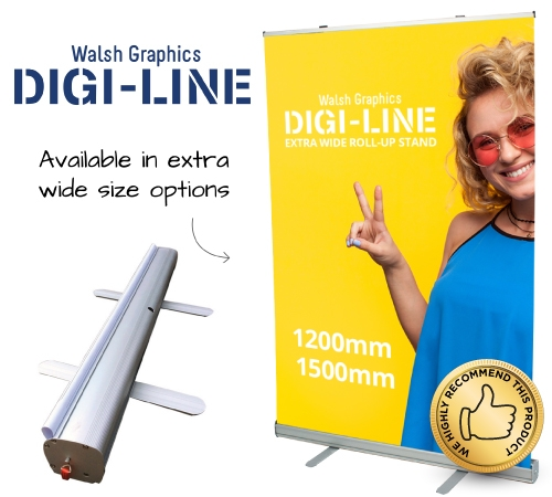 DIGI-LINE Hive 1500mm Roll-Up Stand Each
