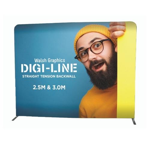 DIGI-LINE Straight Tension Backwall 2.5m – Exhibition Display  Each