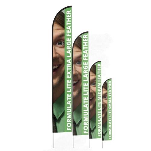 Formulate Lite Flag Pole  Rectangle Extra Large