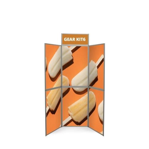 Gear Edge 6 Panel  Frame 2050 (h) x 1500 (d) mm
