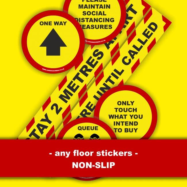 Dublin Lets Keep Our Social Distance Floor Sticker