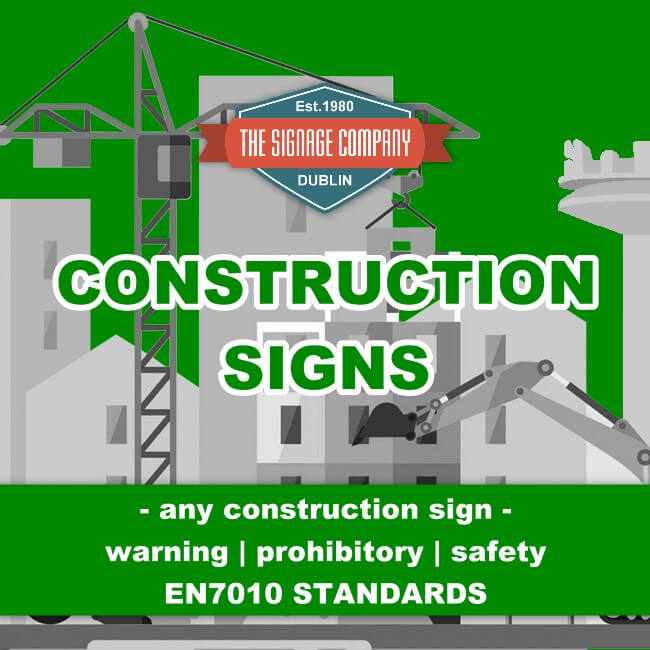 Dublin Site Safety Construction Work In Progress Site Safety Sign