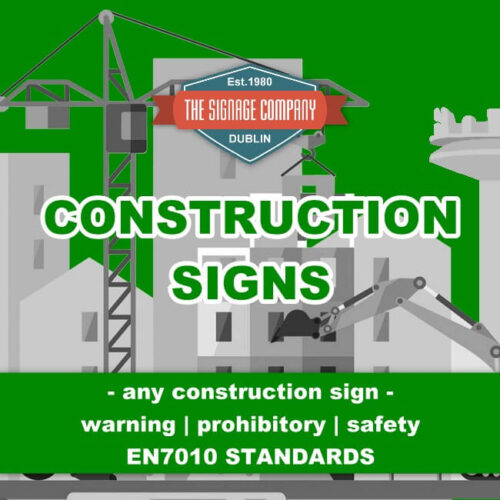Site Safety Construction Work In Progress Warning Deep Water Unprotected Edge Site Safety Sign Ireland