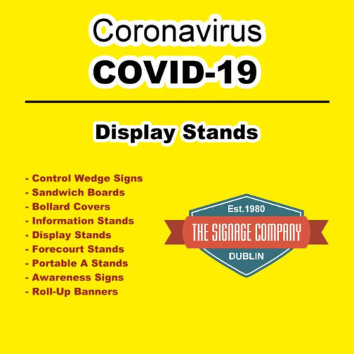 Social Distancing Windmaster Display Stand Dublin COVD-19 Signage