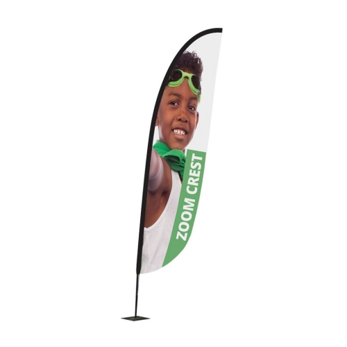 Zoom+ Crest Flagpole & Graphics  Small Pole