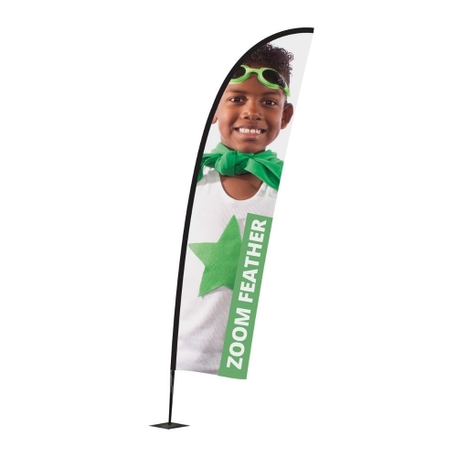 Zoom+ Feather Flagpole & Graphics  Small Pole