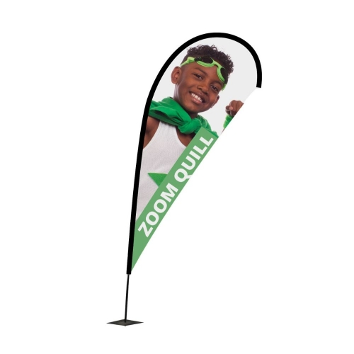 Zoom+ Quill Flagpole & Graphics  Small Pole