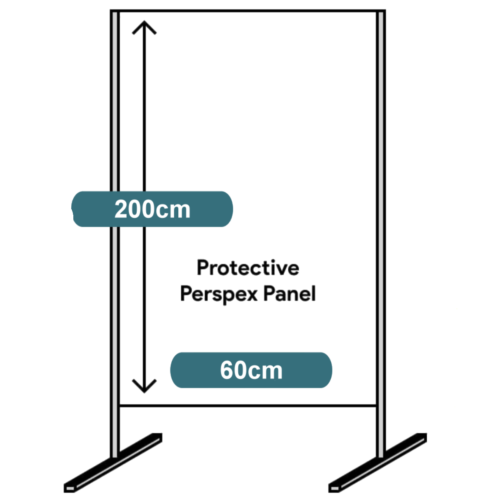 metal frame perspex separator protection panel